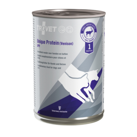 Veterinārie konservi kaķiem un suņiem - Trovet UPV Unique Protein Venison, 400 g title=
