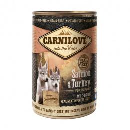 Консервы для щенков - CARNILOVE Wild Meat Salmon and Turkey, 400 г