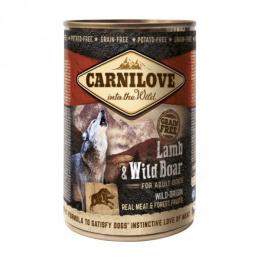 Konservi suņiem - CARNILOVE Wild Meat Lamb and Wild Boar, 400 g