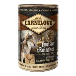 Konservi suņiem - CARNILOVE Wild Meat Venison and Reindeer, 400 g