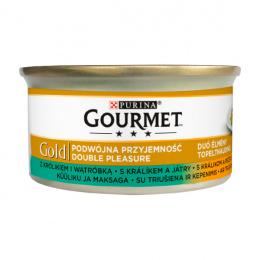 Konservi kaķiem - Gourmet Gold Duo Rabbit and Liver, 85 g