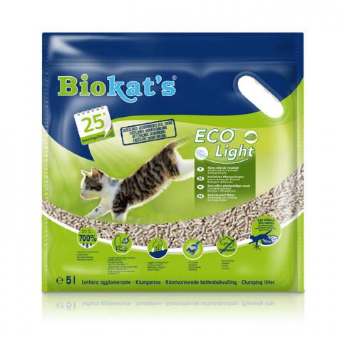 Koka granulas kaķu tualetei - Biokat's ECO Light, 5 L title=