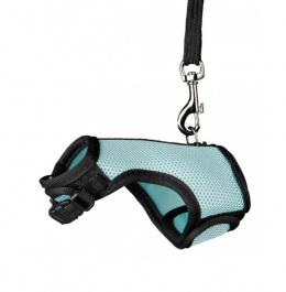 Krūšu siksna grauzējiem – Trixie Soft Harness with Leash 12-18 cm / 1,2 m