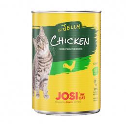 Консервы для кошек – JosiCat Chicken in jelly, 400 г