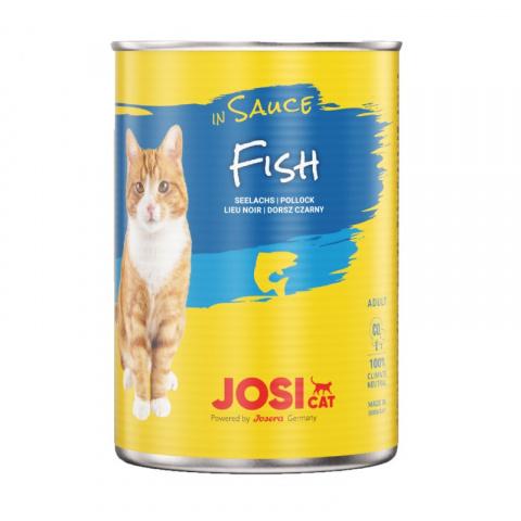 Консервы для кошек – JosiCat Fish in sauce, 415 г title=