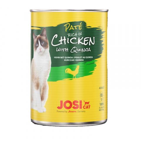 Консервы для кошек – JosiCat Chicken with quinoa, 400 г title=