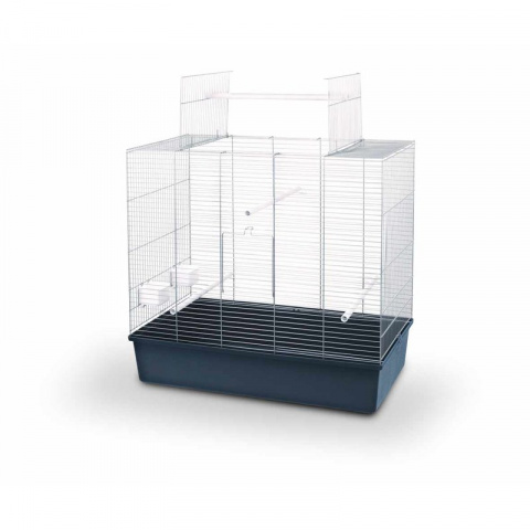 Клетка для птиц - Ellen Open, hrom and dark blue, 80*45*70 см title=