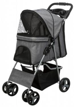 Коляска для собак - TRIXIE Buggy, Grey, 47 x 100 x 80 см, 4,9 кг