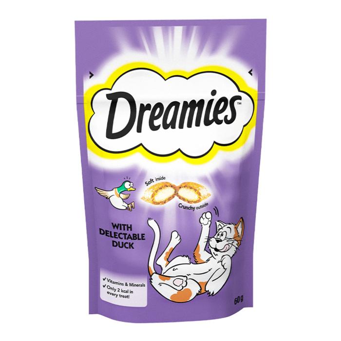 Gardums kaķiem – Dreamies Duck, 60 g