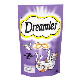 Gardums kaķiem - Dreamies Duck, 60 g