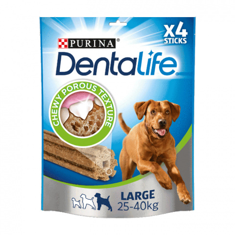 Gardums suņiem – Purina DENTALIFE for large dog, 142 g title=