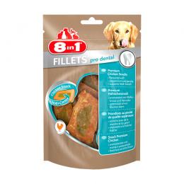 Gardums suņiem - 8in1 Delicacy Fillets Pro Dental, 3 gab., 80 g