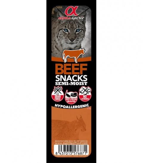 Gardums kaķiem - ALPHA Spirit Cat Food Snack Beef, 35 g title=