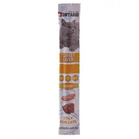 Gardums kaķiem - Ontario Stick for Cat Turkey and Liver, 5 g title=