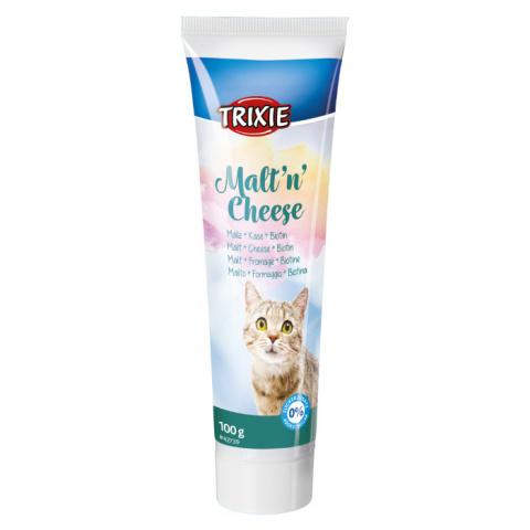 Barības piedeva kaķiem - Trixie Malt'n'Cheese Anti-Hairball, 100 g title=