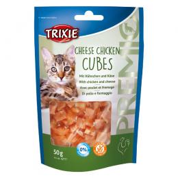 Gardums kaķiem - TRIXIE PREMIO Cheese Chicken Cubes, 50 g