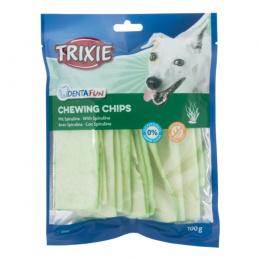 Лакомство для собак - TRIXIE Chewing Chips with Spirulina Algae, 100 г