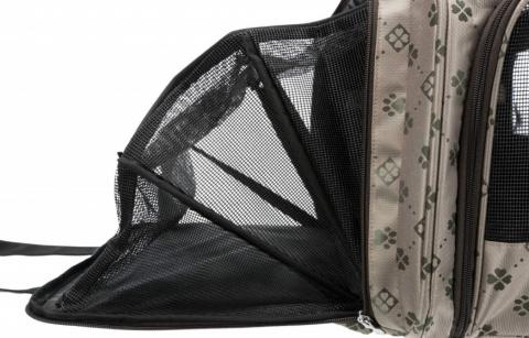 Transportēšanas soma dzīvniekiem - Trixie Maxima carrier, 33*32*54 cm, beige/brown title=