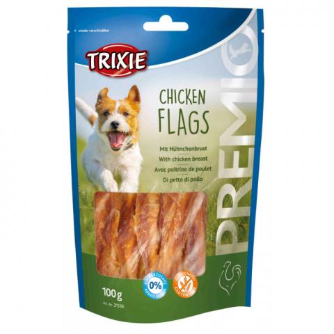 Лакомство для собак - TRIXIE PREMIO Chicken Flags, 100 г title=