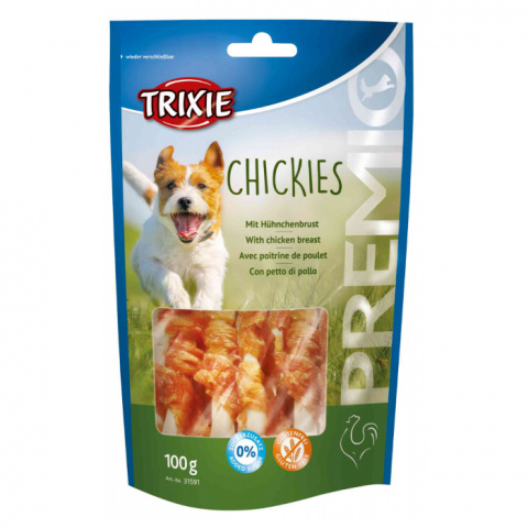 Gardums suņiem - TRIXIE Premio Chickies, 100 g title=