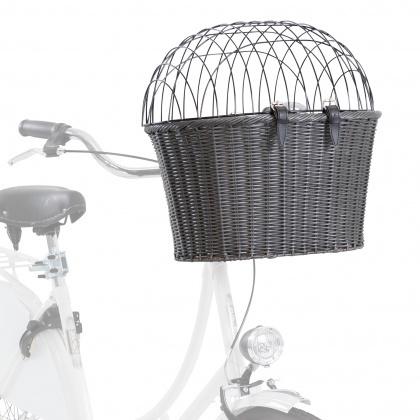 Velosipēda grozs dzīvnieku transportēšanai - TRIXIE Front bicycle basket, 44*34*41 cm, grey title=
