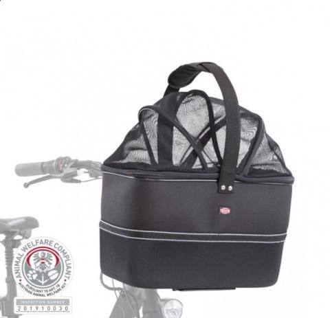 Velosipēda grozs dzīvnieku transportēšanai - TRIXIE Front bicycle basket, 41*47*29 cm, black title=