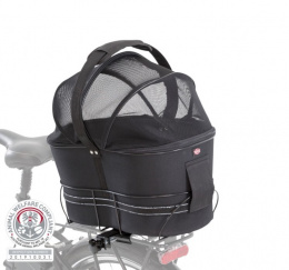 Velosipēda grozs dzīvnieku transportēšanai - TRIXIE Bicycle basket for narrow bike racks, 29*42*48 cm, black