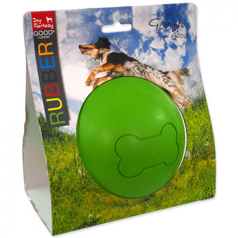 Игрушка для собак – Dog Fantasy Good's Rubber Strong Ball, green, 12,5 см title=