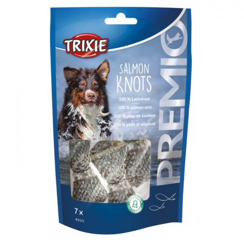 Лакомство для собак - TRIXIE PREMIO Salmon Knots, 7 шт./80 г title=