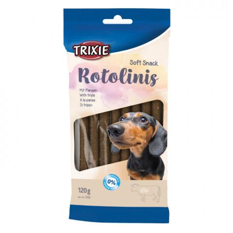 Gardums suņiem - TRIXIE Rotolinis, Tripe, 12 gab., 120 g title=