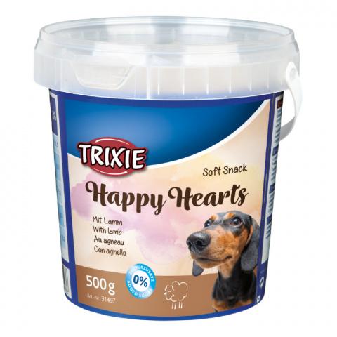 Gardums suņiem - TRIXIE Soft Snack Happy Hearts, 500 g title=