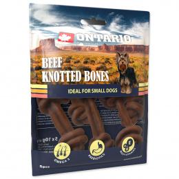 Gardums suņiem - Ontario Rawhide Snack Bone 7,5 cm (5 gab.)