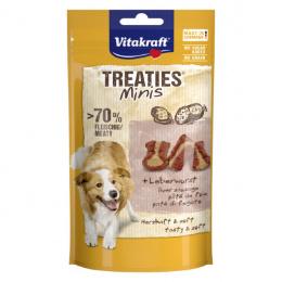 Лакомство для собак – Vitakraft Treaties Minis Liver Sausage, 48 г