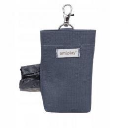 Сумочка-контейнер для мешочков – AmiPlay Waste Bags Dispenser Samba, Grey