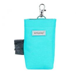 Сумочка-контейнер для мешочков – AmiPlay Waste Bags Dispenser Samba, Turquoise