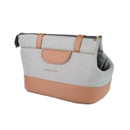 Transportēšanas soma – AmiPlay Pet Carrier Bag Classic (L), Light Grey, 42 x 26 x 30 cm