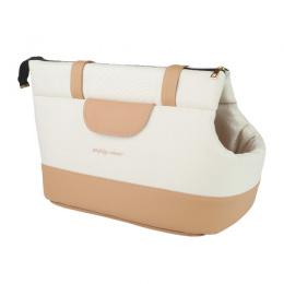 Transportēšanas soma – AmiPlay Pet Carrier Bag Classic (S), Creamy, 35 x 21 x 24 cm