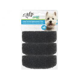Фильтры для кошачьей и собачьей поилки - AFP, Large Particle Replacement Filter, 6 шт.