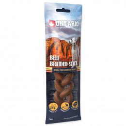 Лакомство для собак – Ontario Rawhide Snack Braided Stick 15 см (1 шт.)