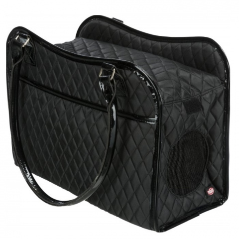 Transportēšanas soma dzīvniekiem - Trixie Amina Carrier, 18 × 29 × 37 cm, black title=
