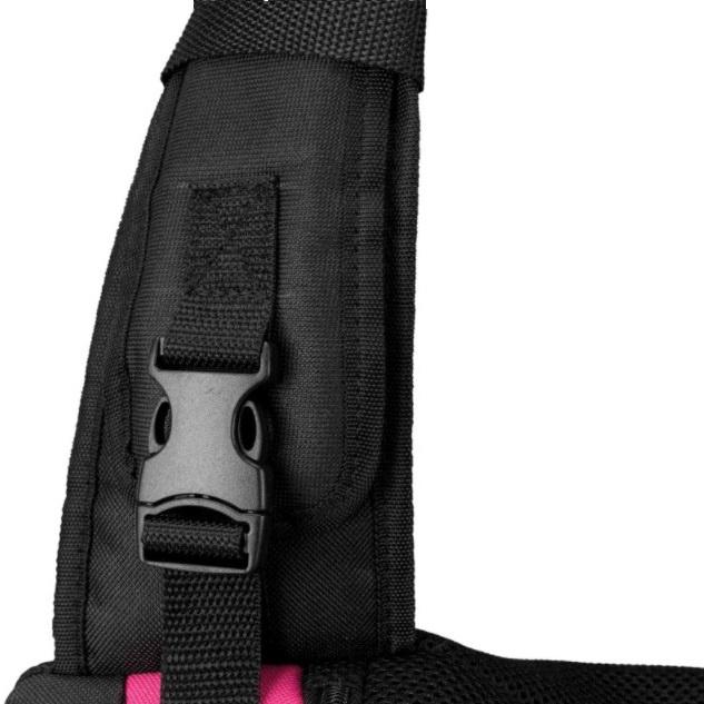 Soma dzīvnieku pārnēsāšanai – Trixie, Sling Front Carrier, 50 × 25 × 18 cm, pink/black
