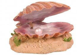 Декор для аквариумов - TRIXIE Sea Shell with Air Outlet, 15см / Раковина