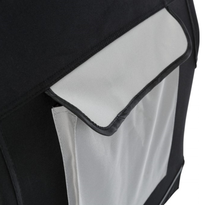 Транспортировочный бокс для животных - Trixie, Vario Mobile Kennel, M–L, 91 x 58 x 61 см, black/grey