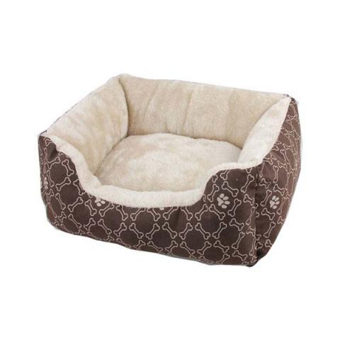 Guļvieta suņiem – AFP Square Dog Bed, Coffee, M 55 x 45 cm title=