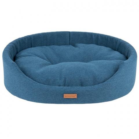 Guļvieta suņiem - AmiPlay Oval bedding Montana M, 52 x 44 x 14 cm, blue title=
