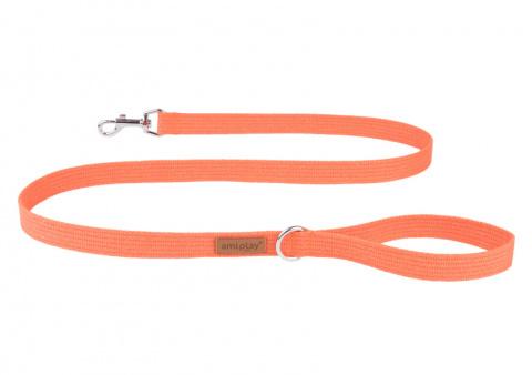 Pavada – AmiPlay Leash Cotton M, 140 x 2 cm, oranža title=