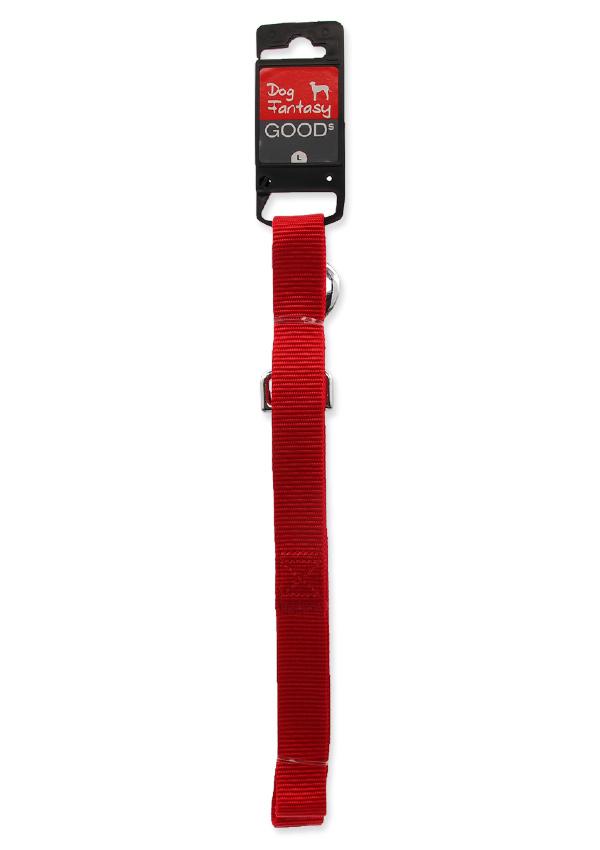 Поводок – Dog Fantasy Classic L, 120 x 2,5 см, цвет – красный
