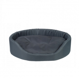Лежанка для собак – AmiPlay Oval bedding Bassic M, 52 x 44 x 14 см, graphite