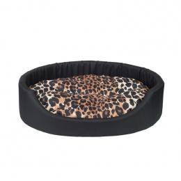 Guļvieta suņiem - AmiPlay Oval bedding Fun L, 58 x 50 x 15 cm, black