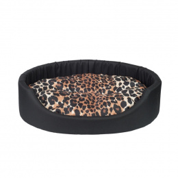 Спальное место для собак AmiPlay Oval bedding Fun M, 52 x 44 x 14 см, black